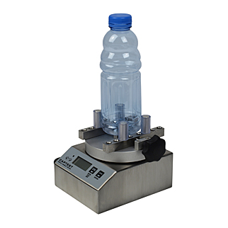 Plastic drinks closures and bottles can be quickly torque tested