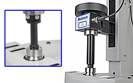 Precise user-adjustment of axial alignment ensures accuracy of measurement of very low closure torques