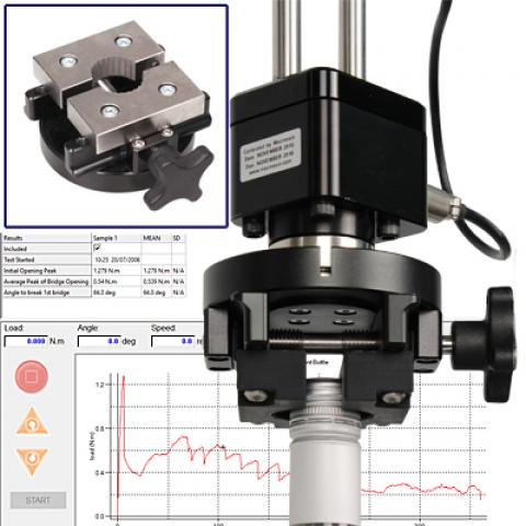 An adjustable Stelvin® cap mandrel ensures optimum accuracy in torque measurement