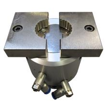 Secure, consistent gripping of Stelvin closures is enabled with this pneumatic split mandrel