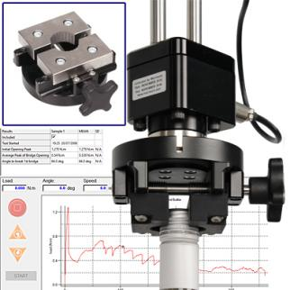 An adjustable Stelvin® cap mandrel ensures optimum accuracy in torque measurement