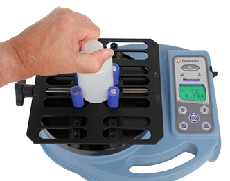 A digital torque meter is used to set the closure torque